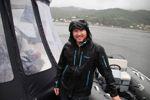 GOD ATTEST: Morten Haugsdal fra Askøy utenfor Bergen gir en svært god attest til Flekkefjord som by og gjestehavn.