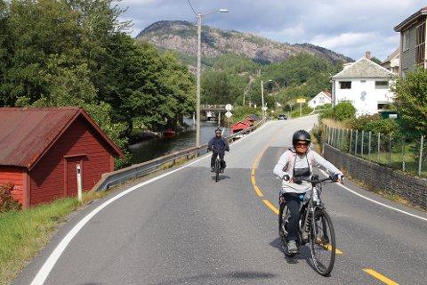 PÅ LOGA: I dag var turen kommet til irdal, Loga (bildet) og Flekkefjord for Rajendra og Aruna Shukla.