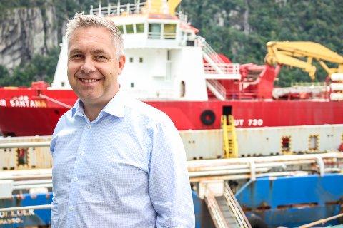 TRAVEL SJEF: Hans Jørgen Fedog har mye å gjøre etter at Green Yard kjøpte Kleven verft.