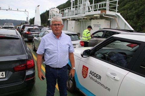 JOBBER MED SAKEN: Fylkesordfører Arne Thomassen (H) forsikrer at han jobber aktivt med å følge opp Hidra-landfast.