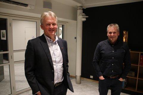 MYE Å BRUKE PENGENE PÅ: Rådmann Bernhard Nilsen (til venstre) og kommunalsjef Terje Glendrange har allerede mange ønsker for hvordan overskuddet fra 2020 skal brukes.