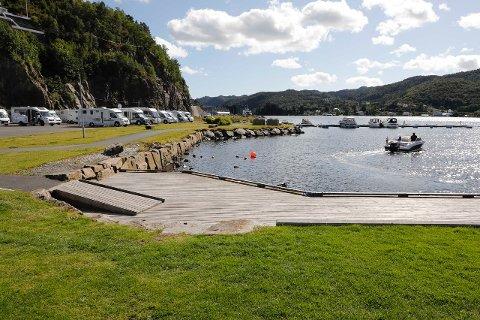 NORGES BESTE: Bobilparkeringen i Flekkefjord er av bobilfolket selv kåret til Norges beste.