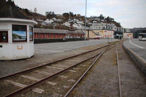 STASJONSOMÅDET: Stasjonsområdet kan gi noen muligheter for inntekter, men Flekkefjordbanen må tilføres millionbeløp for å bli ivarettatt på skikkelig vis.