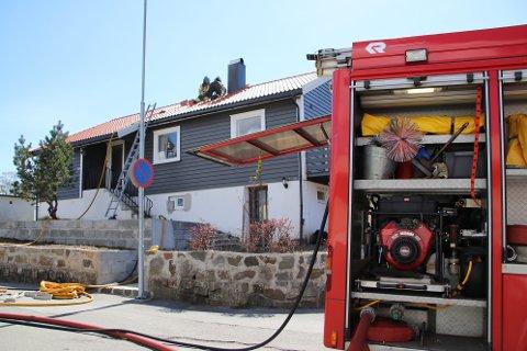TUNVEIEN: Branntilløpet var i et hus i Tunveien med fire beboere.