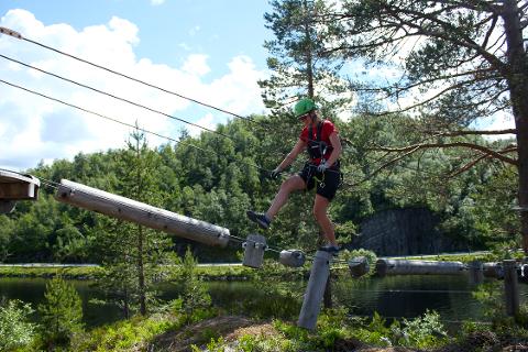 GODT BESØK: Klatreparken Høyt & Lavt i Sirdal har så langt hatt et god besøk i sommer.