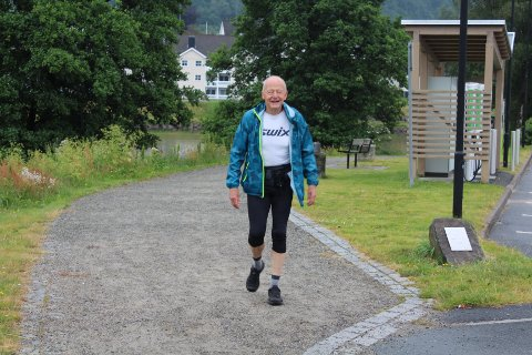 FIN TUR: Sigbjørn Risnes fra Kvinesdal fikk en fin tur i ukens løype, som ble arrangert i traseen til Promenadeløpet.