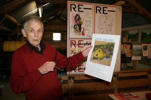 LEIV KNIBESTØL: Hans malerier har ofte tilknytning til lokale steder.
