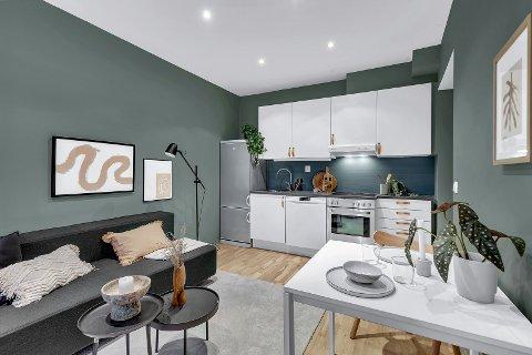 DYR: Denne leiligheten på Grünerløkka på 43 kvadratmeter ble solgt for 4,4 millioner kroner nylig.