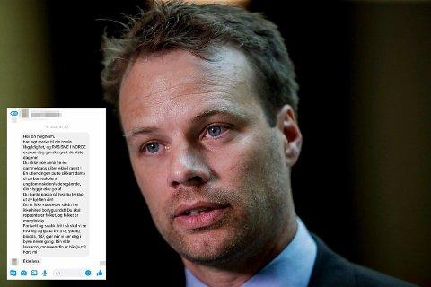 En Oslo-mann i 20-årene er tiltalt for trusler mot Frps stortingsrepresentant Jon Engen-Helgheim.