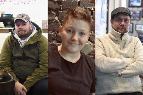 TAR OPP KAMPEN: Tormod Kristoffersen, Charlie G. Duratovic og Audun Andersen Bettum fra Vålerenga Vertshus tar opp kampen mot koronaviruset.