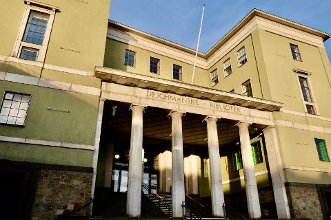 BLIR STORSTUE: Tidligere Deichmanske bibliotek skal bygges om til en multifunksjonell storstue med blant annet serveringssteder og en fotoutstilling.