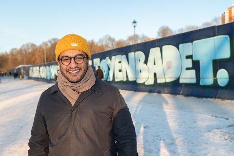 KRAFTTAK: Badebyråd Omar Samy Gamal (SV) mener byrådet har satset kraftig på idrett og svømming i Oslo. Foto: Jørgen Hyvang