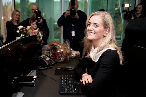 VIL VURDERE NYE POLITISTASJONER I OSLO: Justis- og beredskapsminister Emilie Enger Mehl (Sp).
