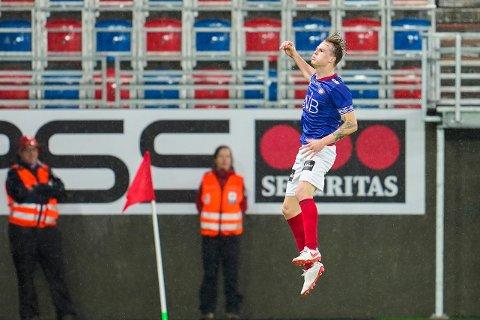 MÅLSCORER: Tobias Christensen la på til 2-0 i søndagens oppgjør.