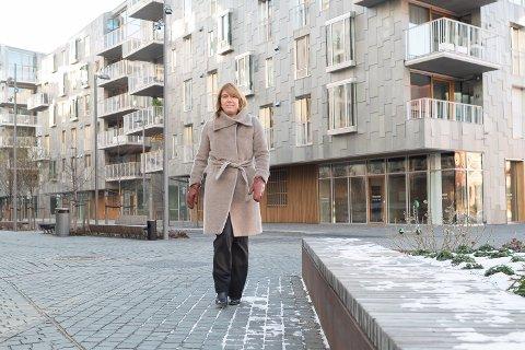PRISØKNING: 2020 endte opp som det nest beste året for Oslo S Utvikling så langt med 221 solgte leiligheter. Det er direktør Synnøve Lyssand Sandberg fornøyd med. Foto: Jørgen Hyvang