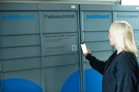 KONTAKTLØS LEVERING: De nye pakkeautomatene til PostNord åpnes med en app.