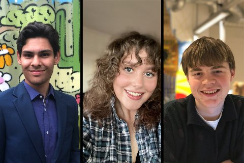 Leander Fjeldstad, Maya Elise Fjelstad og Mikal Eckblad er blant elevene som slår alarm.