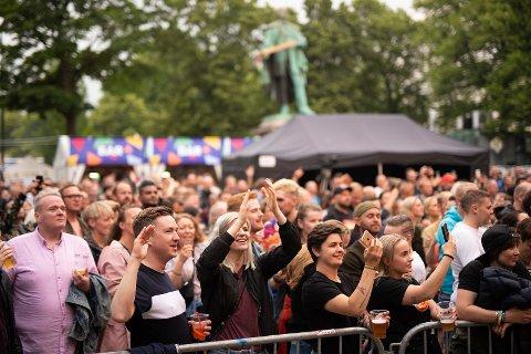 KONSERT: Publikum i Pride Park 2019.