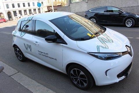 GUL LAPP: Denne bybilen til Vy hadde fått den fryktede gule lappen på frontruta da Avisa Oslo gikk forbi den i Observatoriegata på Frogner.