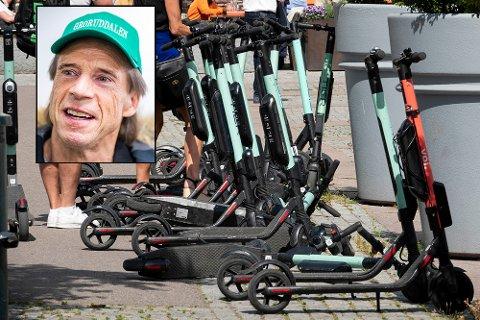 Jan Bøhler (innfelt) og Senterpartiet har planen klar for å få orden i elsparkesykkel-kaoset i hovedstaden.