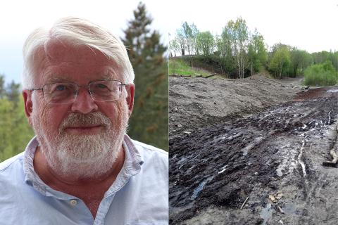 UTÅLMODIG: Johannes Kaasa er frustrert over at kommunen «aldri» blir ferdig arbeidet på turstien mellom Hovedseterdalen og Bogstad camping. Kommunen avviser kritikken og har ansett seg ferdig over en måned.