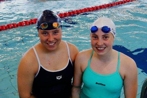 Tora Elise Lynes Nordli (16) og Maja Punnerud Devik (15) har svømt for Lambertseter svømmeklubb siden de var små. De liker seg aller best i bassenget på Lambertseter.