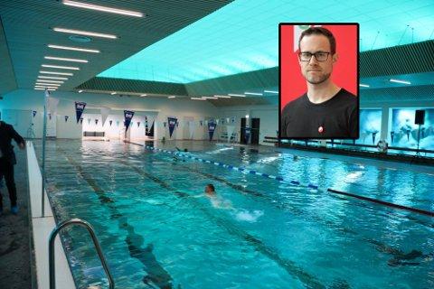 Erlend Tynning Larsen er ikke imponert over svaret han fikk på spørsmålet om barnas svømmeopplæring. Bassenget på Holmlia er nå det eneste tilbudet til barna i bydelen.