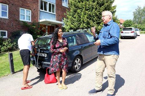 IKKE TILHENGERE AV RIVING: Verken Mary Perera-Hemal eller Oslos tidligere ordfører Fabian Stang skjønner noe av at Obos skal rive Hoffsveien 47-49.