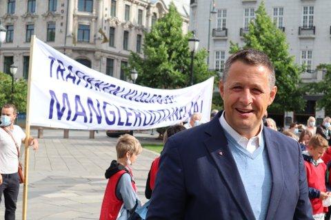 MENER SENTRUMSPOLITIKK ER BRA: KrF-politiker Espen Andreas Hasle.
