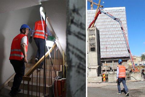 BLI MED INN: Statsbygg åpnet dørene til byggeplassen og viste hva de jobber med nå i forbindelse med byggingen av nytt regjeringskvartal.