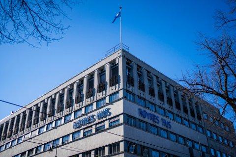 HØYRES HUS: Lokalene ligger i Stortingsgaten midt i Oslo sentrum. Foto: Håkon Mosvold Larsen / NTB