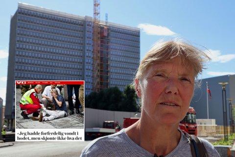 DAGEN ALT ENDRET SEG: Bildene av Line Nersnæs med en stor treflis gjennom hodet gikk verden rundt. Som overlevende føler hun på et ansvar om å fortelle, og om å aldri glemme.