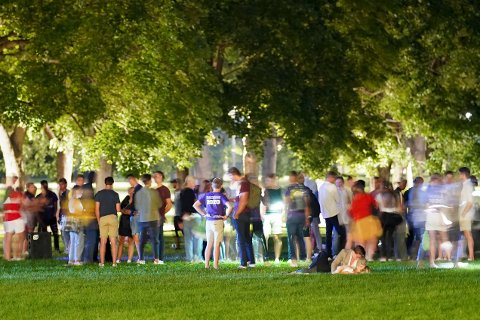 STUDIESTART: Slik blir årets fadderuka for nye studenter i hovedstaden. Avbildet: Fadderukesamling i Frognerparken i 2020.