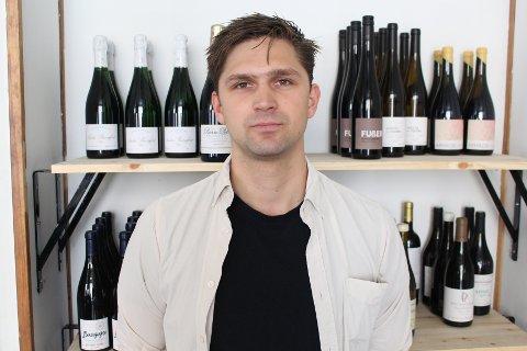 VINBAR: Andreas Lohne er bartenderen i den nye vinbaren DFC på Grünerløkka.