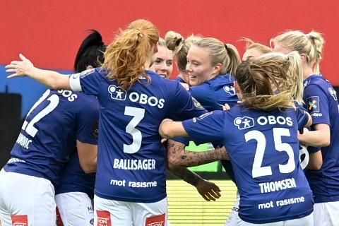 Vålerenga tok en viktig seier over LSK Kvinner i Toppserien.