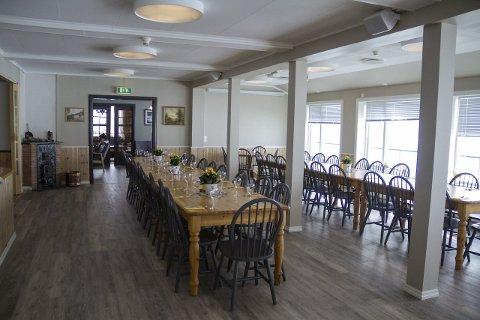 SLIK SER MATSALEN UT NO: Slik ser matsalen ut etter at dei har pussa opp og bygd ut Stordalen Fjellstove.