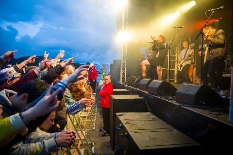 UTKANT: Kvelertak er blant dei som skal spele på Utkant i 2021. Her frå då dei spelte på festivalen i 2015.