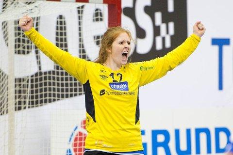 Marie Davidsen har storspilt for Tertnes denne sesongen. Hjemme mot Rælingen onsdag slapp hun kun inn 17 mål. Arkivfoto: BA