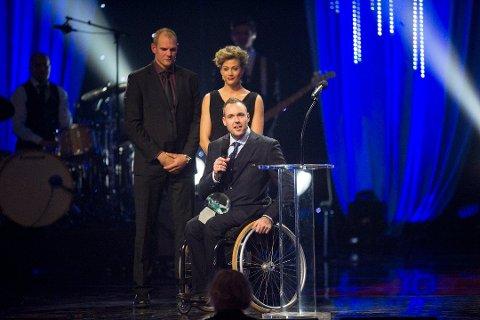 Bordtennisspiller Tommy Urhaug fikk prisen for Årets mannlige funksjonshemmede utøver. (Foto: Nesvold, Jon Olav)
