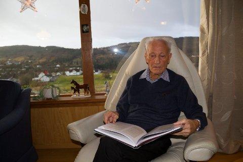 Møbelhandlar Bjarne Foss døydde tredje juledag, 87 år gamal. Foto: Randi Bjørlo
