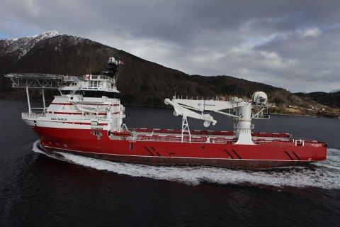 Supplyskipet «Siem Marlin» skal truleg sørga for miljøovervakinga under den kompliserte operasjonen. Foto: Siem Offshore