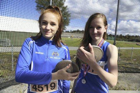 LANDSLAGET: Hedda Hauge Aasgård (til venstre) er tatt ut på rekruttlandslaget i friidrett. ARKIVFOTO