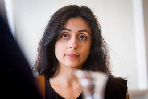 Hadia Tajik på besøk i Nordhordland.