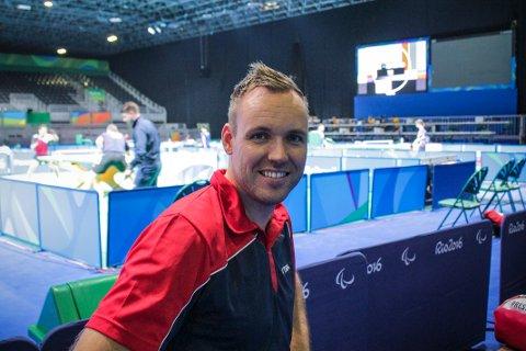 Tommy Urhaug fekk ein pangstart på Paralympics i Rio med 3-0-siger i første kamp, på kun 18 minutt! Foto: NTB Scanpix
