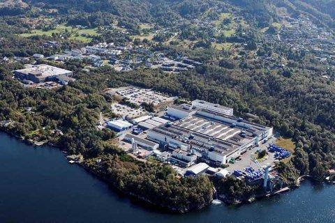 Alle 750 ansatte på motorfabrikken til Rolls Royce på Hordvikneset har fått tilbud om sluttpakke. Foto: Rolls Royce