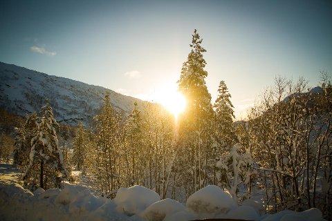 Drøymer du om snø til jul må du til fjells. Her frå Stordalen førre vinter.