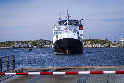 Solide MF «Fedjefjord» er endeleg reparert og tilbake i drift på sambandet Sævrøy - Fedje. Arkivfoto