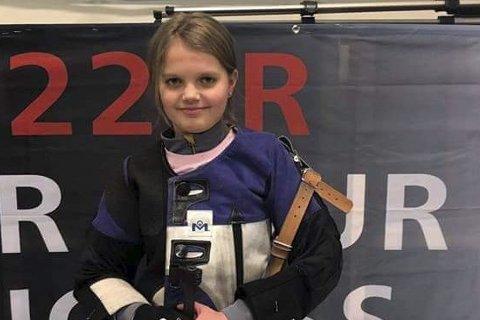 Mathilde Håvåg Wergeland kom på delt 1. plass blant heile 86 skyttarar i rekruttklassen i det nasjonale stemnet Norma Open i Oslo i helga.