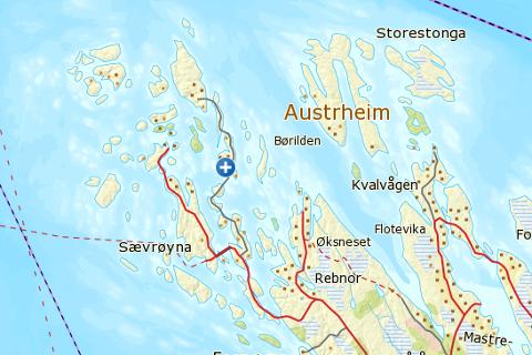 Kartutsnitt frå Norgeskart.no