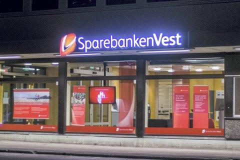Rekord: Sparebanken Vest hadde eit resultat før skatt på 1,956 milliardar kroner i 2016.Det er 40 prosent meir enn året før.